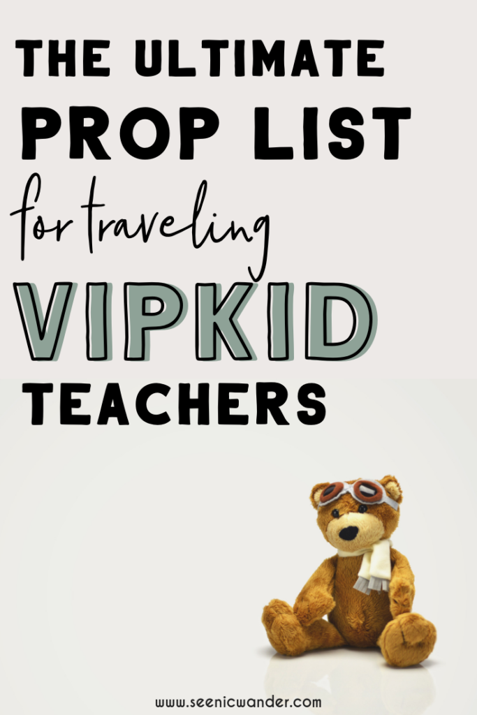 image about Vipkid Printable Props named My Nomadic VIPKID Clroom - The Supreme VIPKID Props Listing